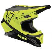 Thor Motocross Helm Sector Split Schwarz Acid