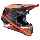 Thor Motocross Helm Sector Split Orange Blau