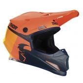 Thor Motocross-Helm Sector Racer orange dunkelblau