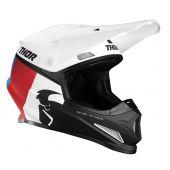 Thor Motocross-Helm Sector Racer weiß Rot Blau
