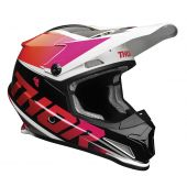 Thor Motocross-Helm Sector Fader orange magenta
