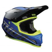 Thor Motocross-Helm Sector Fader Blau schwarz