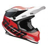 Thor Motocross-Helm Sector Fader rot schwarz