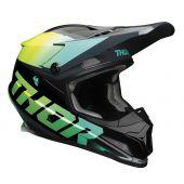 Thor Motocross-Helm Sector Fader lindgrün blaugrün