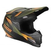 Thor Motocross-Helm Sector Warship grün orange