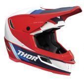 Thor Motocross-Helm Reflex Apex rot weiß Blau