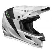 THOR Motocross-Helm Reflex Cast Weiss Schwarz