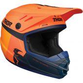 Thor Jugend Motocross-Helm Sector Racer orange dunkelblau