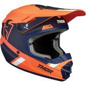 Thor Jugend Motocross-Helm Split Mips orange marine blau