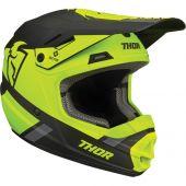 Thor Jugend Motocross-Helm Split Mips lindgrün schwarz
