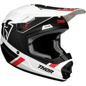 Thor Jugend Motocross-Helm Split Mips weiß schwarz