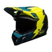 BELL MX-9 Mips Helmet Strike Matte Blue/Yellow