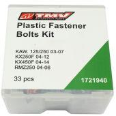 TMV Schraubensatz fur plastiksets KX KX250F 04-12 KX450F 04-14 -33PCS