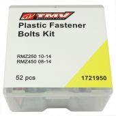 TMV Schraubensatz fur plastiksets RMZ250 10-14 RMZ450 08-14 (52PCS)