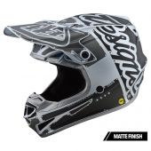 Troy Lee Designs SE4 Polyacrylite Motocross Helm Factory Silber