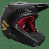 Shift Jugend Whit3 Label Motocross Helm Schwarz Gold