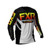 FXR Podium MX Jersey Black/Red/Hi Vis/Grey Aztec