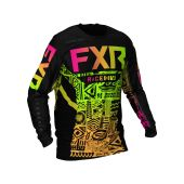 FXR Podium Motocross-Shirt Sherbert Aztec