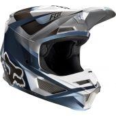 Fox Jugend V1 MOTIF Motocross Helm Blau Grau