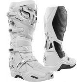 Fox Instinct Motocross Stiefel Weiß Silber