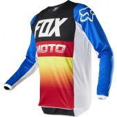 Fox 180 FYCE Motocross Jersey Blau Rot
