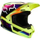 Fox V1 GAMA Motocross Helm Gelb