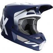 Fox V1 WERD Motocross Helm Blau