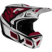 Fox V3 IDOL Motocross Helm Light Grau