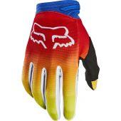 Fox Jugend Dirtpaw FYCE Motocross Handschuhe Blau Rot