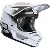 Fox Jugend V2 VLAR Motocross Helm Weiß