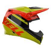 BELL Moto-9 Mips Motocross-Helm Prophecy Gloss Gelb/Orange/Schwarz