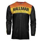 Hallman Cross-Shirt Air schwarz orange