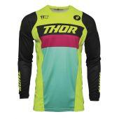 Thor Jugend Cross-Shirt PULSE Racer lindgrün schwarz