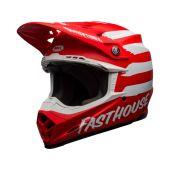 BELL Moto-9 Mips Motocross-Helm Signia Matt Rot/Weiss Größe