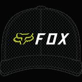 Fox apex flexfit Deckel Schwarz Gelb