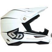 6D Motocross Helm - STEALTH MATTE Weiß