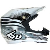 6D Motocross Helm - CRUSADER Weiß Schwarz