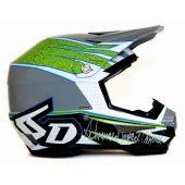 6D Motocross Helm - INTRUDER Weiß Grün