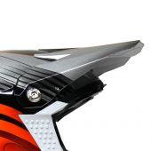 6D Motocross Helmvisier CRUSADER - Orange/Silber