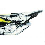 6D Motocross Helmvisier CHAOS - Gelb