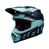 BELL Moto-9 Flex Motocross-Helm Breakaway Matt Dunkel Blau/Hellblau