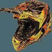 Airoh MX Motocross Helm Aviator 2.3 Fame AMS Orange Gloss