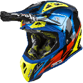 Airoh MX Motocross Helm Aviator 2.3 Great AMS Blau Chrome