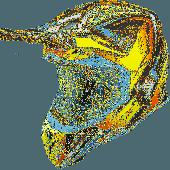 Airoh MX Motocross Helm Aviator 2.3 Fame AMS Gelb Matt