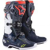 Alpinestars Boots Tech 10 Dark Gray Dark Blue Red Fluo