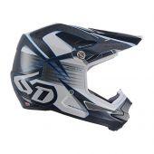 6D Motocross Helm ATR-1Y Avenger Weiß Blau