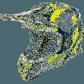 Airoh MX Motocross Helm Aviator 2.3 Bigger AMS Blau Gloss