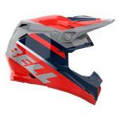 BELL Moto-9 Mips Motocross-Helm Prophecy Gloss Infrarot/Dunkel Blau/Grau