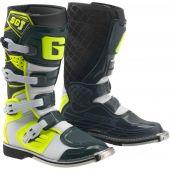 Gaerne Motocross Stiefel SG-J Weiß Gelb Grau