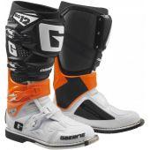 Gaerne Motocross Stiefel SG-12 Orange Schwarz Weiß